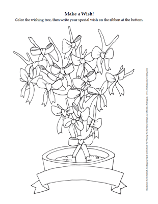Wishing Tree coloring page